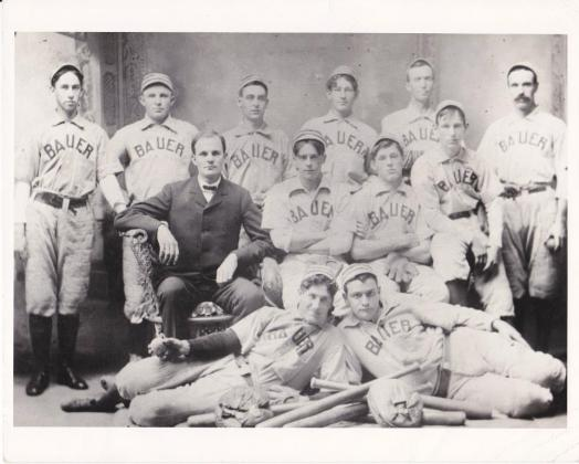 The Bauer Industrial League Team in the early 1900s. Submitted Photo